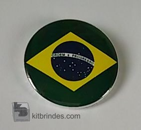 kit 20 bottons bandeira do Brasl