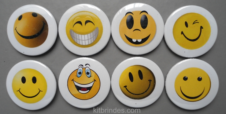 kit 8 bottons emoticons